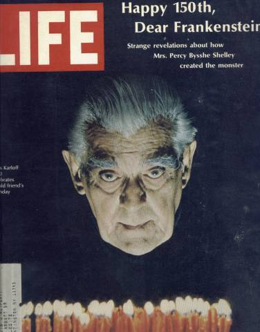 LIFE Magazine featuring Boris Karloff on the cover March 15, 1968
