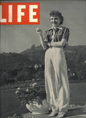 Claudette Colbert on the cover of LIFE November 13, 1939