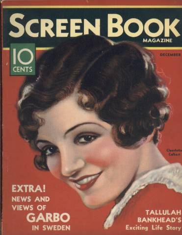 Claudette Colbert Screenbook Magazine