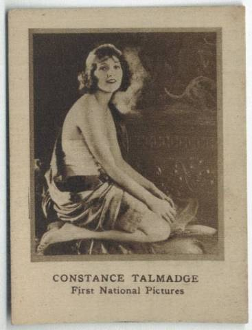 1920's Constance Talmadge Ghiradelli's Chocolate Card
