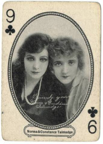 1916 Norma & Constance Talmadge MJ Moriarty Playing Card