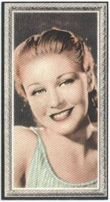 "1936 Ginger Rogers Godfrey Phillips ""Stars of the Screen"" Tobacco Card"