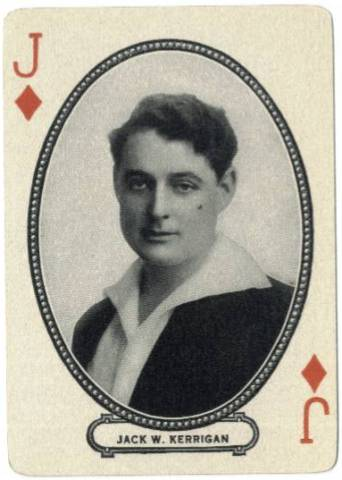 1916 MJ Moriarty Playing Card featuring J. Warren Kerrigan