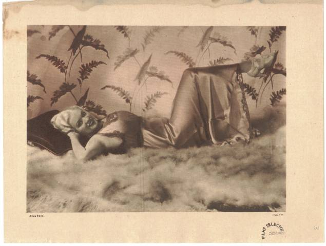 Photo from 1930's issue of Films Selectos Magazine featuring Alice Faye