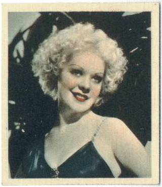 Alice Faye featured on 1930's European Tobacco Card
