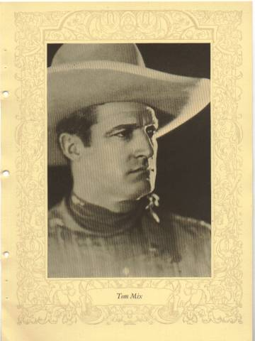 1923 Tom Mix MPDA Photo
