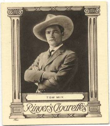 Tom Mix Ringer's Cigarette Card