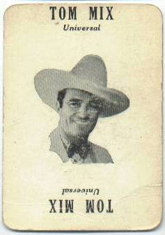 1929 Tom Mix Movie-Land Keeno Game Card
