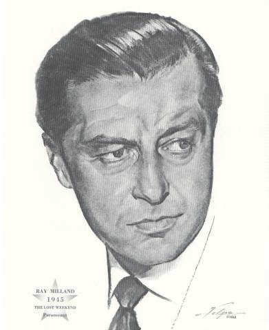 Ray Milland Print by Volpe honoring 1945 Best Actor Oscar