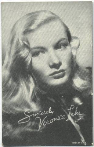 1940's Veronica Lake Made in USA Arcade Card