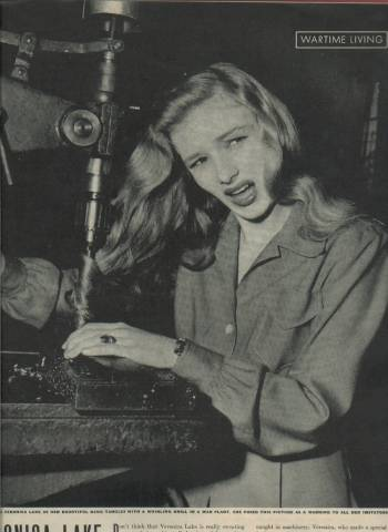 LIFE Magazine article cautioning girls from the danger of keeping their hair like Veronica Lake