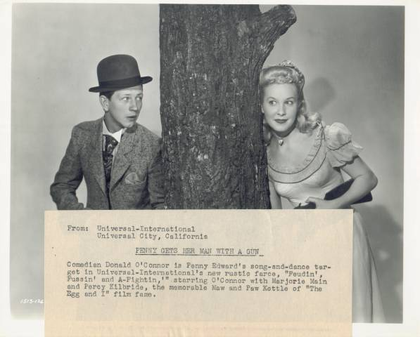 Donald O'Connor with Penny Edwards press photo
