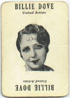 Movie Land Keeno Game Card featuring Billie Dove