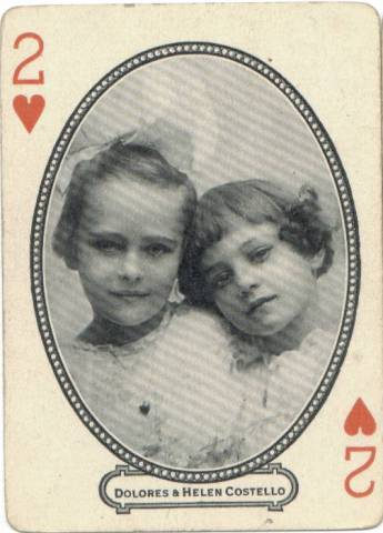 1916 MJ Moriarty Dolores & Helen Costello Playing Card