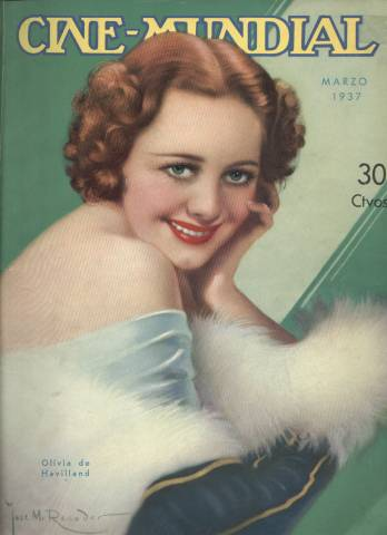 March 1937 issue of Cine-Mundial featuring Olivia de Havilland cover