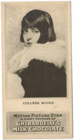 Ghiradelli's Milk Chocolate card featuring Colleen Moore