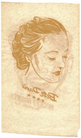 Large Bette Davis iron-on transfer