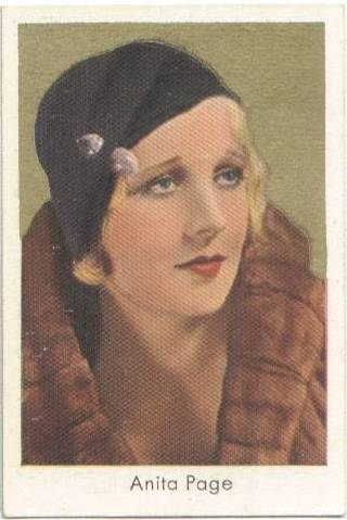 1934 Anita Page Salem German Tobacco Card