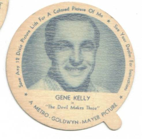 Gene Kelly in The Devil Makes Three Dixie Cup Lid