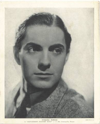 1936 R-95 Tyrone Power Linen Premium Photo