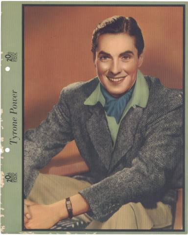 Tyrone Power Dixie Cup Lid Premium Photo