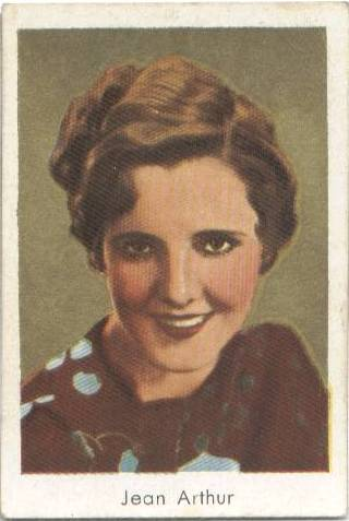 1934 Salem Tobacco Card Jean Arthur