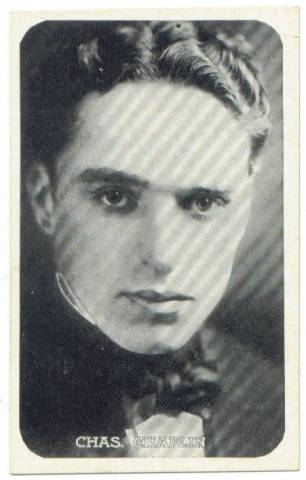 1917 Charles Chaplin Kromo Gravure Trading Card (round borders)