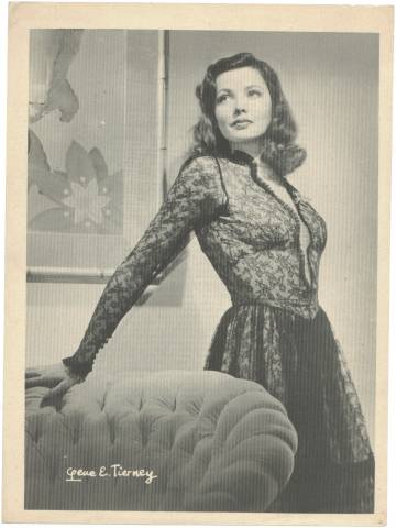 1946 Gene Tierney Motion Picture Magazine Premium Photo
