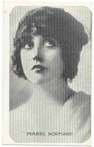 1917 Mabel Normand Kromo Gravure Trading Card (rounded borders)