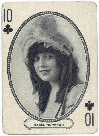 1916 Mabel Normand MJ Moriarty Playing Card