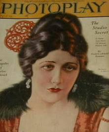 April 1923 Photoplay Magazine featuring Barbara Lamarr on the cover