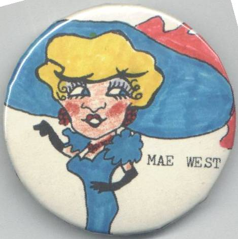 1970's Issue Mae West Pinback Button