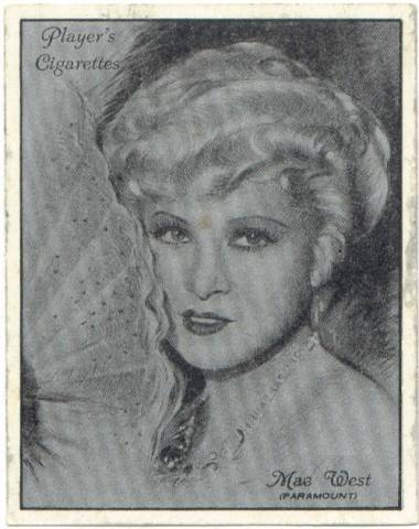 1934 Player's Film Stars Mae West