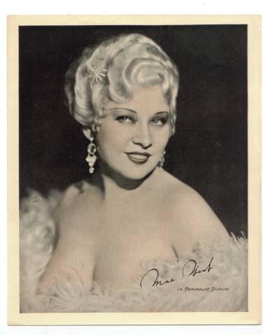 1934 Large Mae West sepia Theater Premium