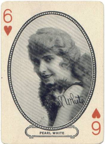 1916 MJ Moriarty Pearl White Playing Card