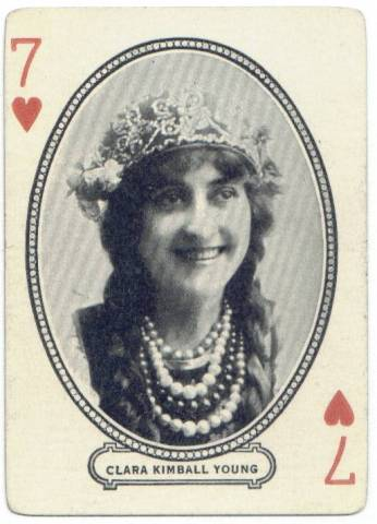 1916 Clara Kimball Young MJ Moriarty Playing Card