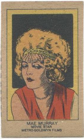 1920's Mae Murray Strip Card