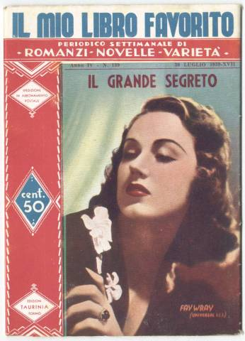 Fay Wray featured on the cover of an Italian Story Booklet