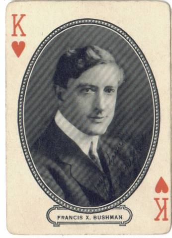 1916 M.J. Moriarty Francis X. Bushman Playing Card