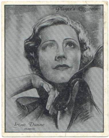 Players Trading Card Irene Dunne