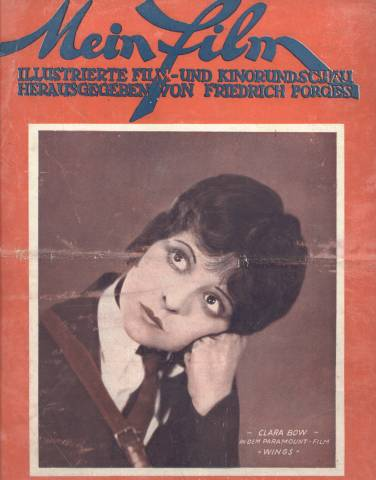 Clara Bow on the cover of German film magazine Mein Film