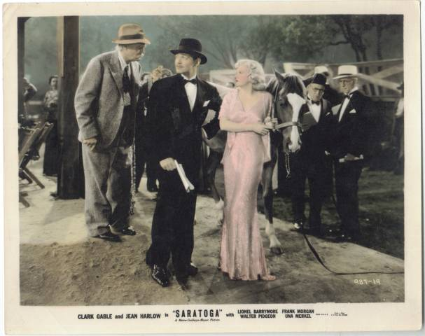 Color Still from Jean Harlow's last film Saratoga