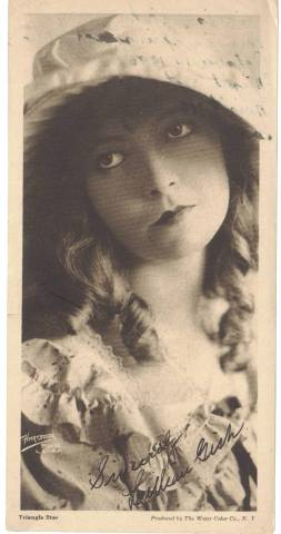 1916 Water Color Company Paper Premium featuring Lillian Gish