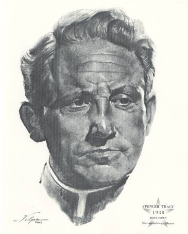 Spencer Tracy Oscar Portrait by Volpe