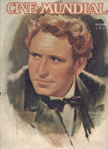 Spencer Tracy as featured on the cover of the Cuban Magazine Cine-Mundial