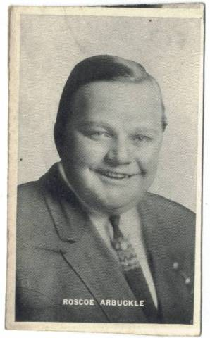 1915-16 Roscoe Fatty Arbuckle Large Black and White Trading Card