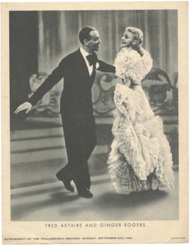 Fred Astaire and Ginger Rogers - 1936 M23 Philadelphia Record Supplement
