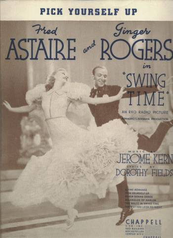 Swing Time Sheet Music featuring Fred Astaire and Ginger Rogers