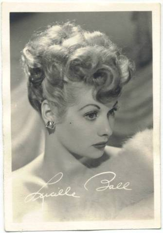 3/12 x 5-1/2 Small Lucille Ball Fan Photo