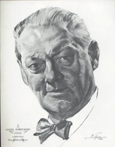 Lionel Barrymore Best Actor 1931 Volpe Portrait (1962)